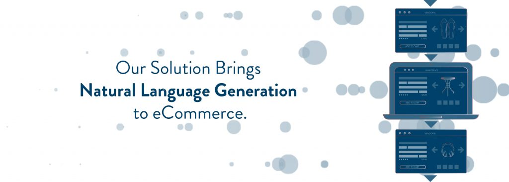 Our Solution Brings  Natural Language Generation  to eCommerce.
